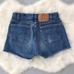 VTG Levi's High Waisted Jean Shorts Orange Tab